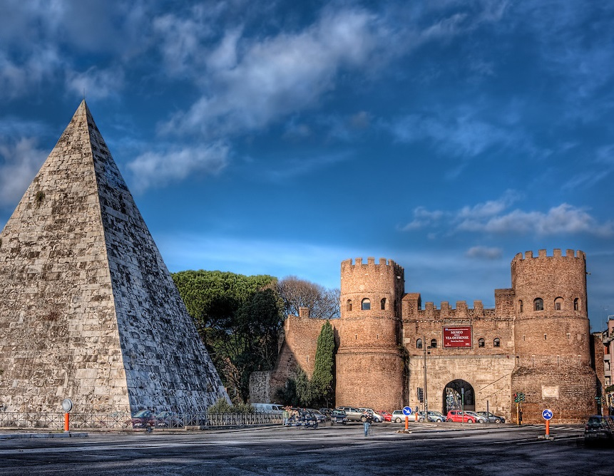 EVEN ROME HAS GOT HER PYRAMID!