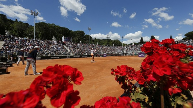 GETTING READY FOR ROME'S INTERNAZIONALI DI TENNIS…